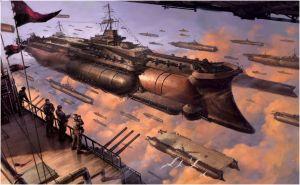 steampunk-airship-army